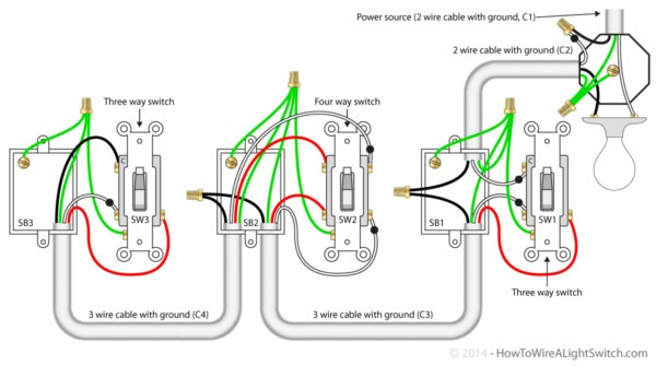 Wiring 3 Switches In 1 Box