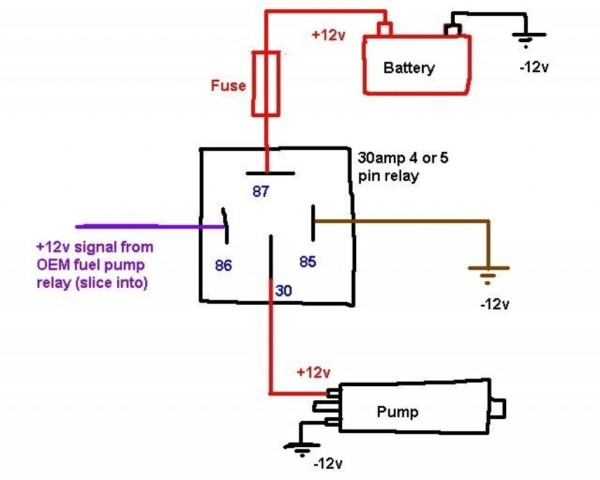 Automotive Relay Circuit Diagram
