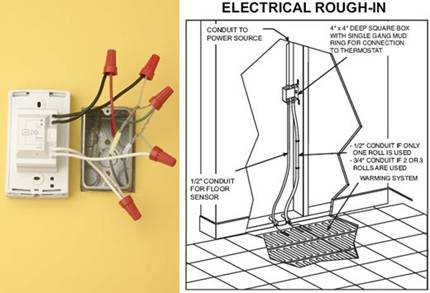 Wiring An Electric Floor Heating System   Electrical Online