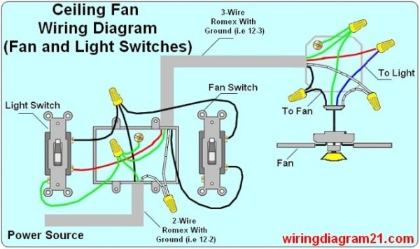 Wiring Bathroom Fan Light Two Switches