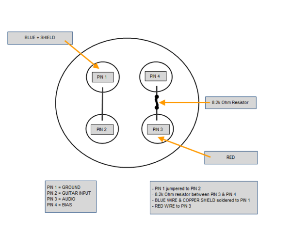 Wiring Configuration For A Hs 2 To An Audio Technica 4 Pin Plug