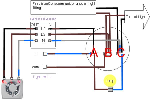 Wiring Diagram Bathroom Light And Fan