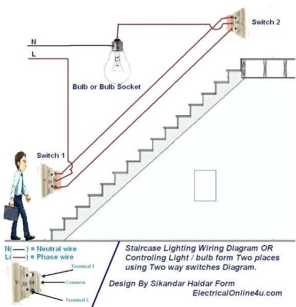 Wiring Two Switches To One Light – Niktus Info
