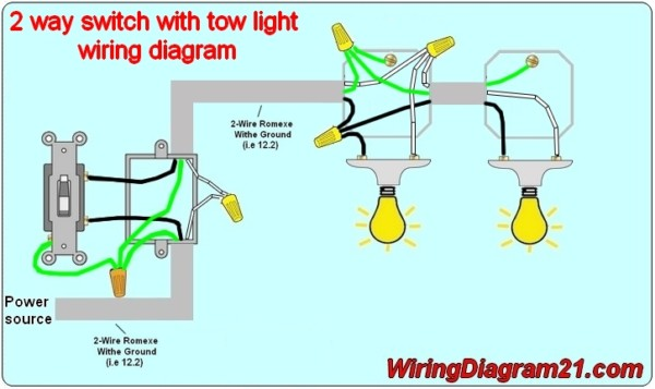 light switch wiring schematic