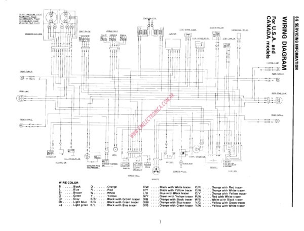 2001 Yamaha Grizzly 600 Wiring Diagram