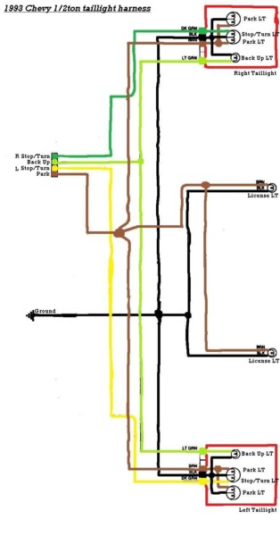Wiring Diagram For Tail Lights