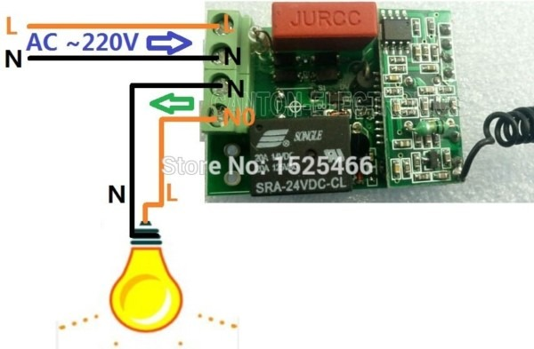 220v 433mhz Ac Wireless Rf Relay Switch Learning Code Receiver For