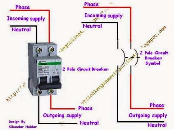 2 Pole Schematic Wiring Diagram