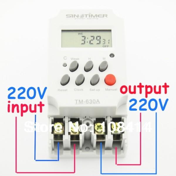30amp 220v Ac Mini Digital Timer Switch 7 Days Programmable Time