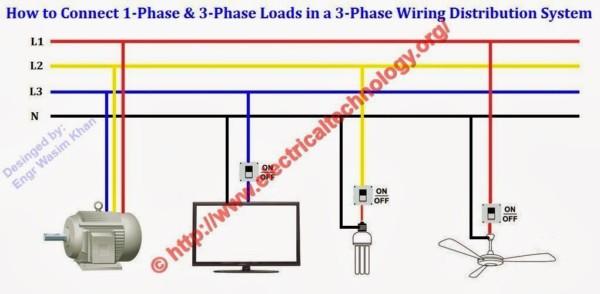 3 Phase To Single Phase Wiring Diagram