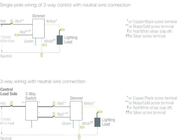 3 Way Switch With Dimmer Wiring Diagram
