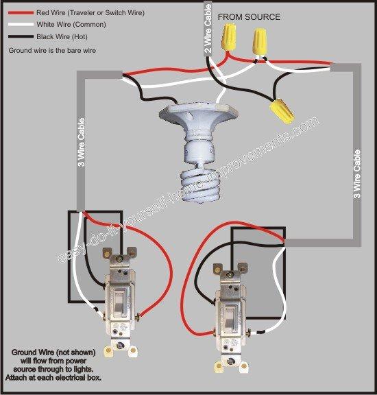 3 Way Switch Wiring Red White Black