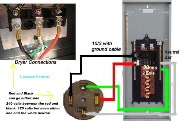 30 Amp Dryer Plug Configuration