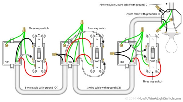 4 Way Wire Diagram Wiring Diagram Switch At End Of Circuit The