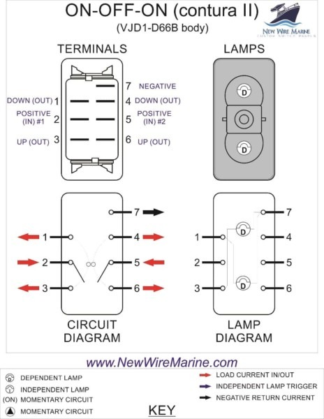4 Wire Toggle Switch Diagram
