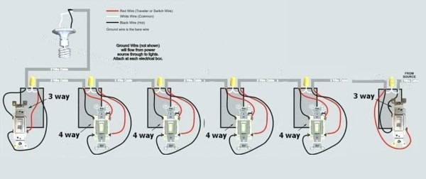 on 4 light switch wiring diagram
