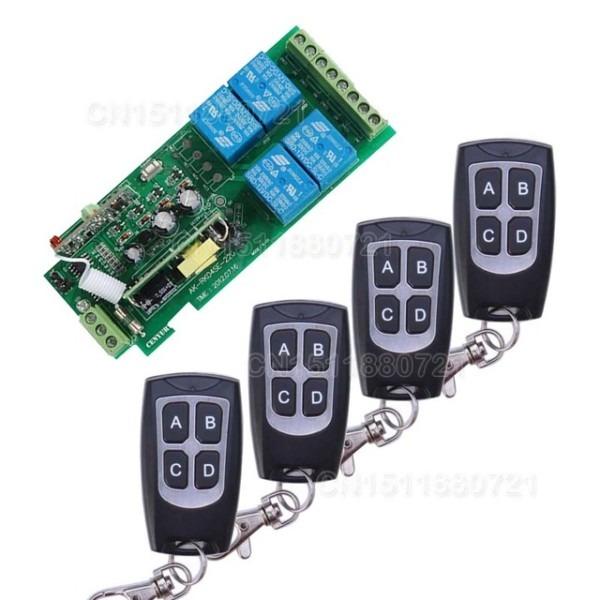 85v~250v 110v 220v 230v 4ch Rf Wireless Remote Control Relay