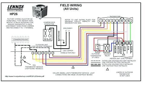 Ac Heat Pump Thermostat Wiring Diagram