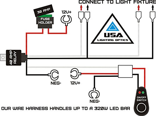 Amazon Com   1 Fog Light 40 Amp Universal Wiring Harness For Off