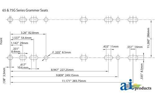 Amazon Com   Grammer Msg75 Seat Air Suspension Skidsteer Const