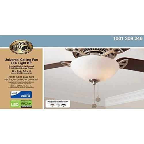 Amazon Com  Hampton Bay Universal Ceiling Fan Led Light Kit  Home