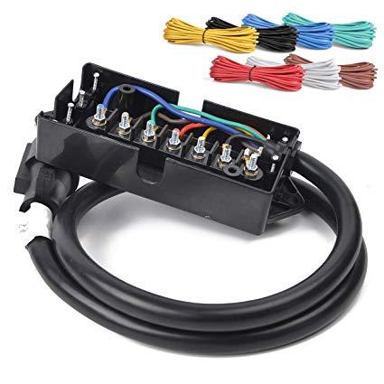 Amazon Com  Hqap 29ft Heavy Duty 7 Way Plug Cord Inline Harness