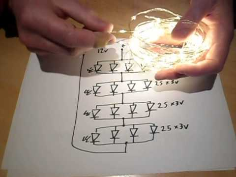 Analysis Of A 100 Led String Of  Wire Lights