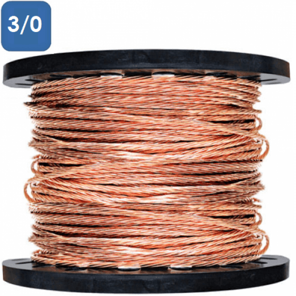 Bare Stranded Copper Wire Number 3 0