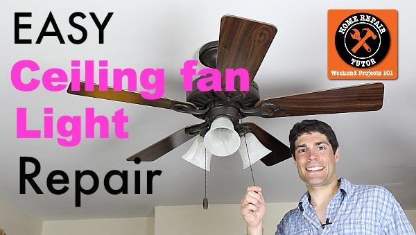 Ceiling Fan Light Repair