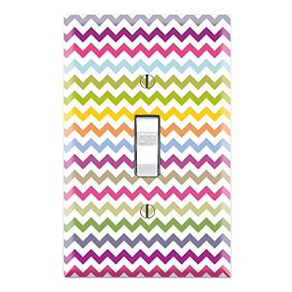 Chevron Rainbow Color Pattern Decorative Single Toggle Light