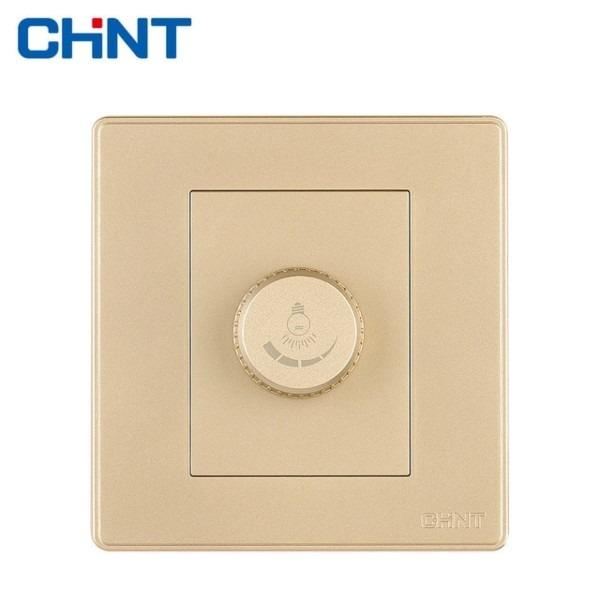 Chint Knob Switch Wall Switch Socket New2d Light Champagne Gold