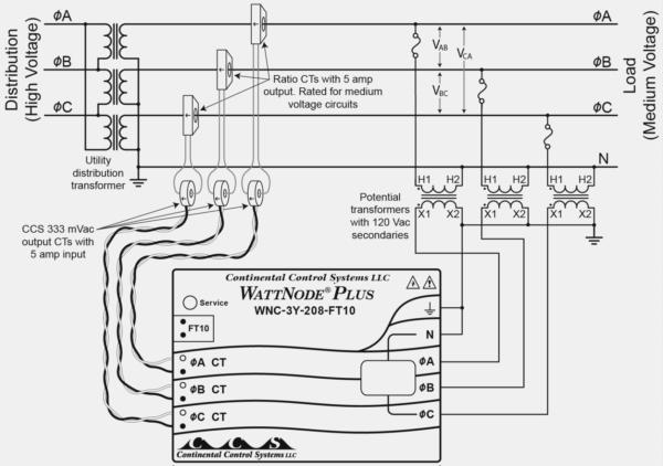 current transformer wiring diagram