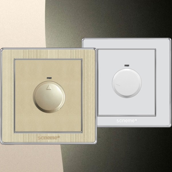 Dimmer Switch 220v 10a White   (gold)luxury Wire Drawing Panel For