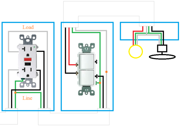 Double Switch For Fan And Light