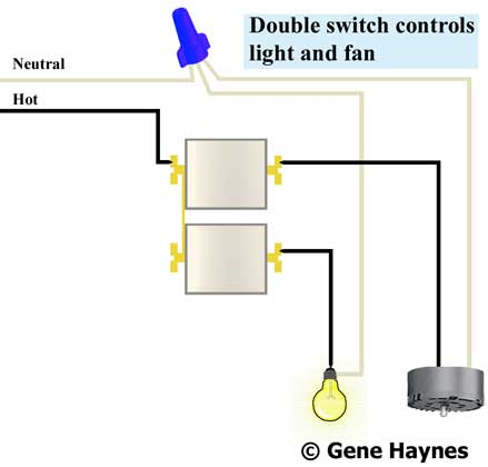 Double Switch Wiring Diagram To Fan