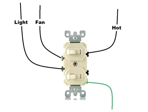 Dual Control Light Switch Black Dual Fan Control Light Switch