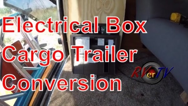 Electrical Box Install Wall Baskets  Cargo Trailer Conversion