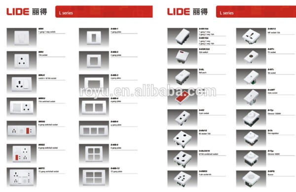 Fine Ge Pc Material Electrical Switch And Socket Wall,indian