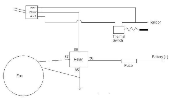 thermo fan wiring diagram