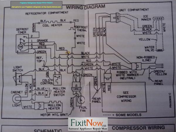 Frigidaire Refrigerator Model Frt21t Wiring Diagram