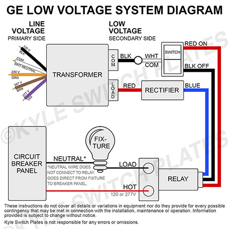 Ge Low Voltage Light Switches, Low Voltage Light Switch Covers, Relays