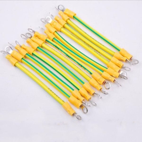 Ground Wire 6 Square Yellow Green Color Grounding Cable Bridge