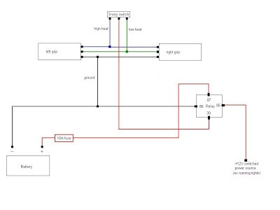 Atv Heated Grips Wiring Diagram - Wiring Diagrams Favorites on heated grips relay connecting to, heated grip repair, heated grip wire phazer ll,