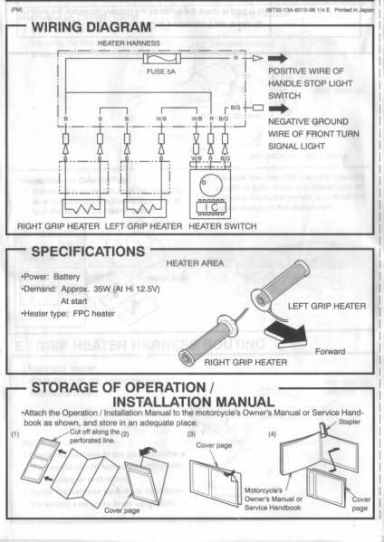 Heated Grips Wiring Diagram