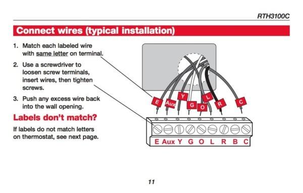 Honeywell Manual Thermostat Installation