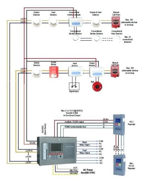 fire alarm smoke detector wiring diagram 600F Fenwal Heat Detector Wiring Diagram