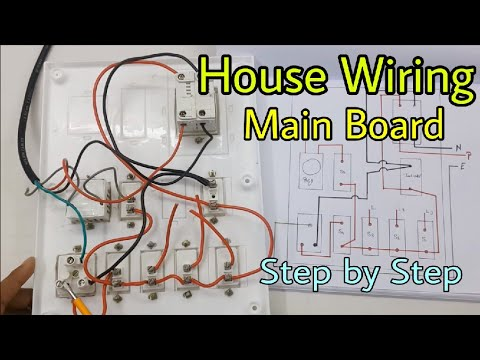 House Wiring Of Main Electrical Board, Step By Step (in Hindi