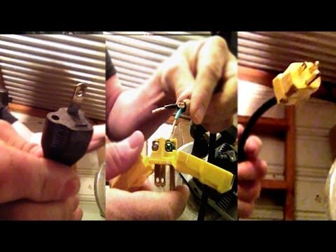 How To Change A Broken Electrical Ac Cord Plug Tutorial