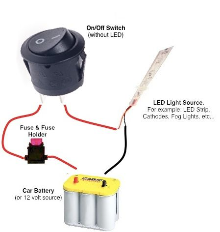 How To Hook Up A Toggle Switch To A Car Battery, Just Another