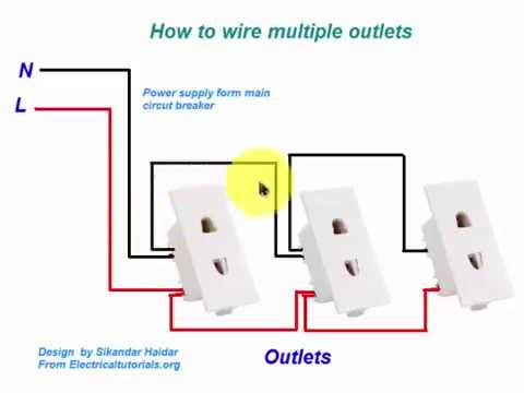 How To Wire Multiple Outlets In Urdu Hindi Video Tutoiral